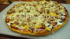 Manjar de ideias doces... e não só!: Pizza de atum com milho e cogumelos