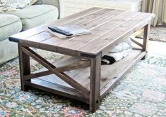 Rustic X Coffee Table free plans