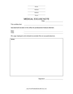 Free Doctor Note  Excuse Templates  Template Lab  Projects
