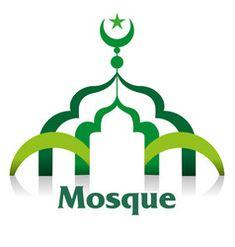 Masjid or mosque symbol Royalty Free Vector Image