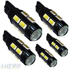 LUYED 5 x 480 Lumens Super Bright T10 5630 12-smd Lens White Color W5W 194 168 2825 LED Bulbs used for Signal Lights, Trunk Lights, Dashboard Lights, Parking Lights LUYED http://www.amazon.com/dp/B017OZK4VI/ref=cm_sw_r_pi_dp_U9.wwb1RDJ4WX