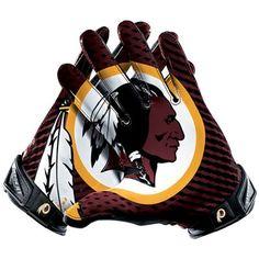 Nike Washington Redskins Vapor Jet 2.0 Team Authentic Series Gloves #Fanatics (For Val)
