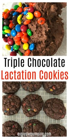 Triple Whammy Triple Chocolate Lactation Cookie Recipe These chocolate chocolate chip M&M lactation cookies are delicious and have three galactagogues to help increase your milk supply! Try these lactation cookies that work! Breastfeeding Foods, Lactation Recipes, Easy Lactation Cookies, Lactation Foods, Milk Supply, Foods To Avoid, After Baby, Cookie Recipes, New Baby Products