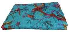 £35.62 bedspread https://www.etsy.com/listing/193107347/king-size-kantha-quilt-in-blue-kantha