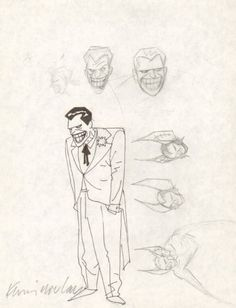Batman: The Animated Series character design sketches by Kevin... Comics Illustration, Illustrations, Batman The Animated Series, Joker Animated, Character Design Sketches, Justice League Unlimited, Bruce Timm, Healthy Food Delivery, Healthy Shopping