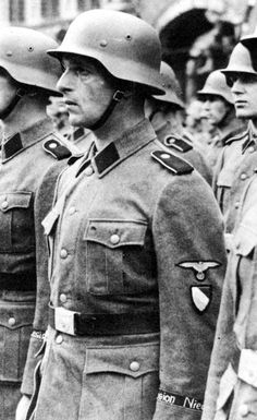 Members of 23.SS Volunteer Panzer Grenadier Division Nederland in an undated photograph. Nederland comprising Dutch volunteers was among the best fighting SS volunteer units. Its performance during the Battle of the Narva Bridgehead in particular helped in establishing it as one of the elite SS formations.