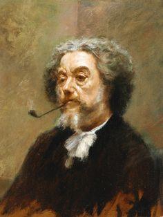 Gaston La Touche (French,1854-1913) - Portrait of Marcellin Desboutin