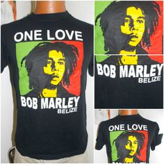 Bob Marley One Love Belize Adult T Shirt by PfantasticPfindsToo