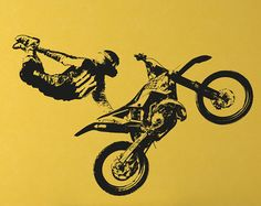 Vinyl Wall Decal Sticker Motocross Trick OSAA195B