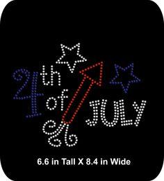 4th of July - Patriotic  - Bling  Rhinestone T-shirt Transfer  - Bling DIY - pinned by pin4etsy.com