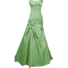 Editado por dehti ❤ liked on Polyvore featuring dresses, gowns, green, vestido, long dresses, green ball gown, green evening dress, green dress and green gown