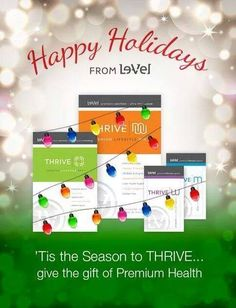 Le-Vel THRIVE Give the gift of HEALTH! ...or treat yourself! ***Join me as a customer or promoter for FREE here!***