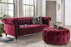 Velvet Wingback Chair, Chesterfield Chair, 3 Seater Sofa, Accent Chairs, Berries, Couch, Colours, Mustard, Jackson
