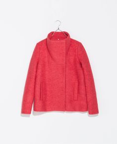 Image 8 of JACKET WITH FUNNEL COLLAR from Zara