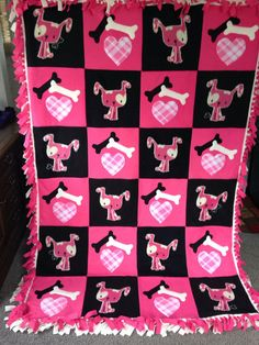 PUPPY LOVE Fleece Blanket by UniqueFleeceBlankets on Etsy