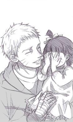 Naruto himawari ... Daddy's little girl