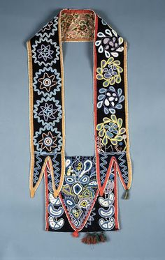 More from the Monclair Art Museum - Native American Bandolier Bags ca. 1800 - 100% organic & original
