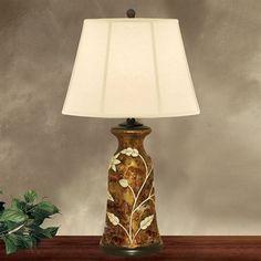 JB Hirsch J15420 Ivory Flower Porcelain Table Lamp