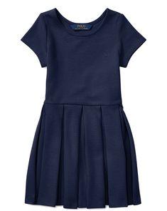 NWT Ralph Lauren Polo Girls Pleated Skater Dress, Little Girls 6X #RalphLauren #fitandflare #ChristmasCommunionDressyEverydayHolidayPageantPartyProm