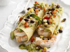 Tacos mit Shrimps, grüner Salsa und Pico de Gallo - smarter - Zeit: 30 Min. | eatsmarter.de