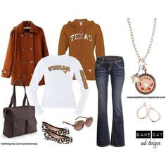"""GAME DAY ATTIRE - UT Longhorn"" by melissadettmer on Polyvore"