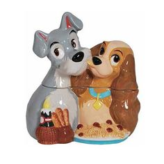 Lady and the Tramp Spaghetti Dinner Ceramic Cookie Jar - Westland Giftware - Lady and the Tramp - Cookie Jars at Entertainment Earth