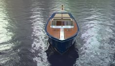 An other photo-realistic image of the luxury tender, this time with the original leather colour, beige.