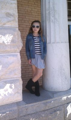 Little fashionista wearing Old Navy, B'tween, H and M, Payless and Stella Dot