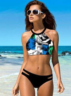 $14.98 (Buy here: https://alitems.com/g/1e8d114494ebda23ff8b16525dc3e8/?i=5&ulp=https%3A%2F%2Fwww.aliexpress.com%2Fitem%2FDigital-Printed-Bikinis-Women-2016-High-Neck-Swimsuit-Tankini-Female-Biquini-Padded-Swimwear-maillot-de-bain%2F32700189380.html ) Digital Printed Bikinis Women 2016 High Neck Swimsuit Tankini Female Biquini Padded Swimwear maillot de bain femme bathing suit for just $14.98