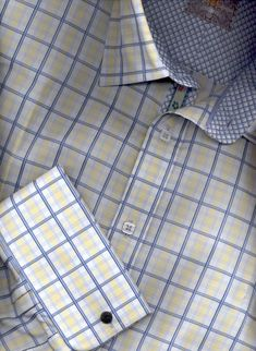 French Cuff Dress Shirts  Mens French Cuff Shirts Large Sizes, Mens Dress Shirts French Cuff.. Sharp  If I had to paint a picture of my husband in a shirt form.this would be him!!  U of M colors and forever FRENCH cuffs!! Just for him | Big Fashion Show mens dress shirts