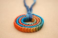 Polymer Clay Pendant by Carina's Photos and Polymer Clay, via Flickr    oh the summer possibilities for Emma.