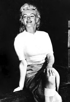 Marilyn Monroe on the set of River of No Return, 1953.