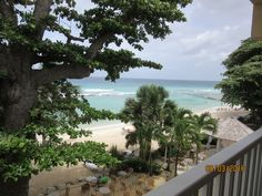 Lovely view from the Ocean Front Room at Sugar Bay Barbados!  #myvacationlady
