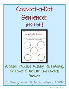 {FREEBIE} Connect-a-Dot Sentences is a great practice activity for developing phrasing, sentence structure, and overall fluency!