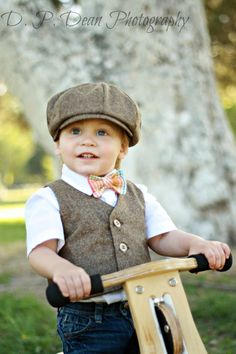 Baby boy  Boys Vest  Newsboy hat  Ring Bearer  by fourtinycousins, $67.00