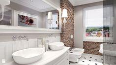 czarno biała łazienka glamour - Szukaj w Google