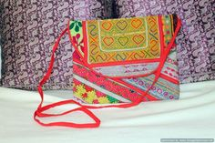 Gypsy, Afgani Hand Embroidered iPad Cover Clutch w Sling-Choices Avail