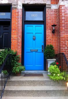 Love the blue door!  Welcome Home!