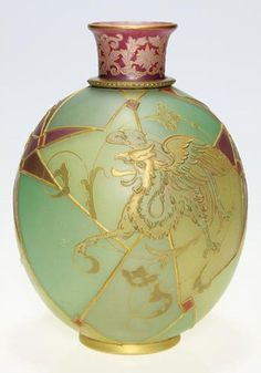 Royal Flemish Vase with Dragon Design