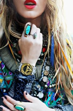 Layers of jewelry