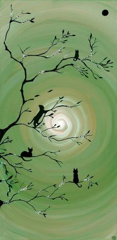 Green Wall Decor, Buy Art Online, Green Colors, Painting & Drawing, Dream Catcher, Kitty, Fantasy, Wall Art, Drawings