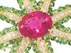 Tiffany & Co. Rubellite, Tsavorite and Diamond Firework brooch