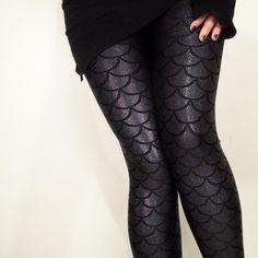 Gold Stitches - Evil Mermaid Leggings, $65 #mermaid #fashion #style