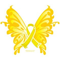 Suicide Prevention Ribbon Butterfly