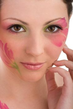 Adult and Kid Fantasy Face Paint Photos
