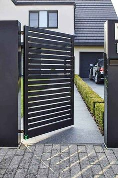 Front Wall Design, Grill Gate Design, House Fence Design, Fence Gate Design, Iron Gate Design, Door Design, Modern Steel Gate Design, Gate Designs Modern, Modern Gates