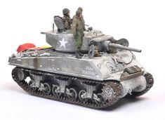 A very nicely done 1/35 Scale M4A3E2 Sherman Jumbo Tamiya plastic model kit @ https://www.hobbylinc.com/tamiya-us-m4a3e2-tank-jumbo-plastic-model-military-vehicle-kit-1:35-scale-35139