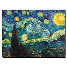 Vincent van Gogh 'Starry Night' Canvas Art - Free Shipping Today - Overstock.com - 15244273 - Mobile