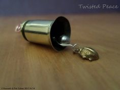 Original Twisted Peace Mini Guardian 40 Bullet Bell with Lady Bug Charm, Blessing, Bride, Gremlin, Father, Key, Wind, Wishing, Mother by twistedpeaceus on Etsy