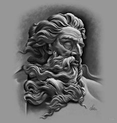 Mighty Zeus by cias Angel Tattoo Designs, Tattoo Sleeve Designs, Tattoo Designs Men, Sleeve Tattoos, Poseidon Tattoo, Poseidon Drawing, Tattoo Sketches, Tattoo Drawings, Zues Tattoo